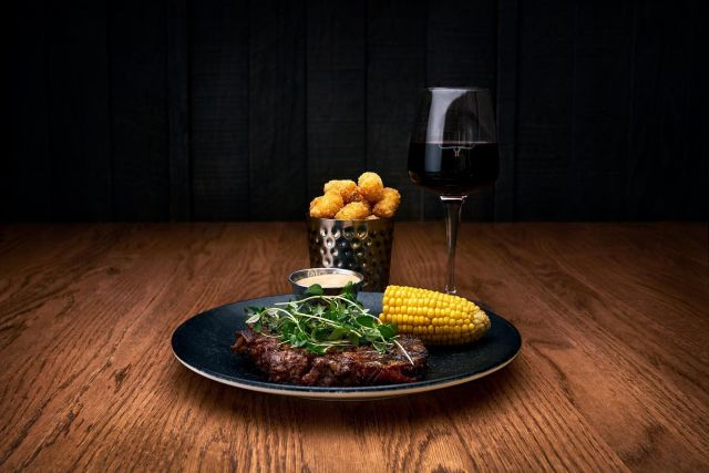 Let it rain. We have everything we need here 🥩🍷
